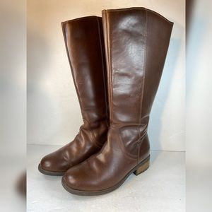 UGG Australia Leather Seldon Zip Riding Boots Knee